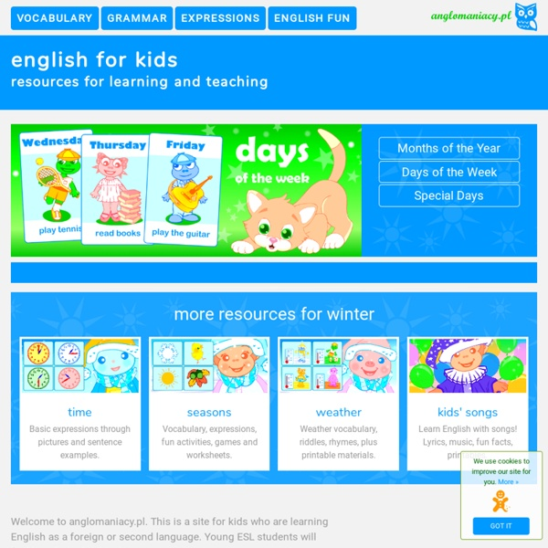English for Kids - Anglomaniacy