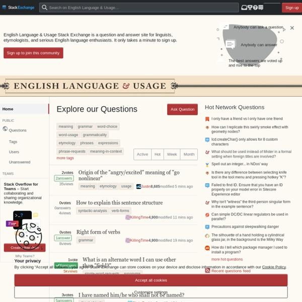 English Language & Usage Stack Exchange