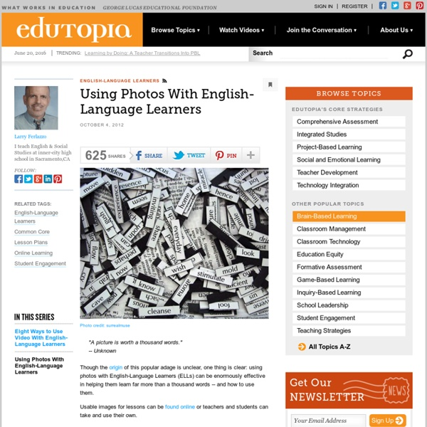 Using Photos With English-Language Learners