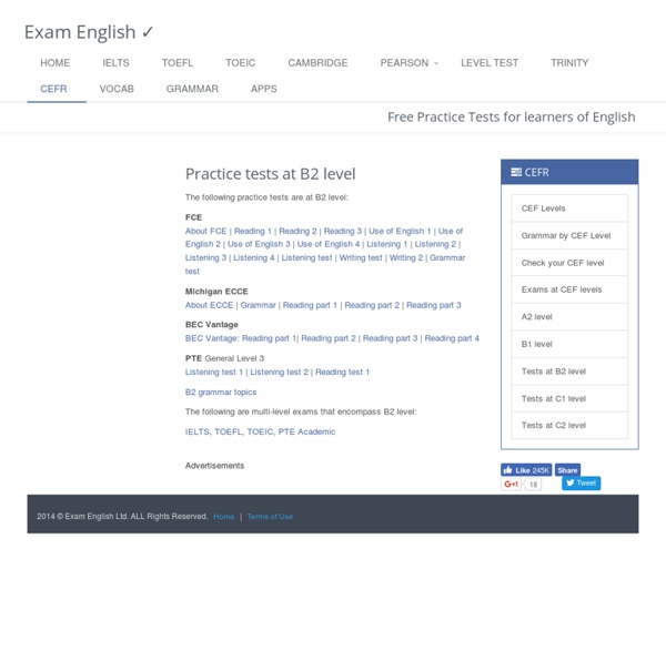 B2 level English language practice tests | Pearltrees
