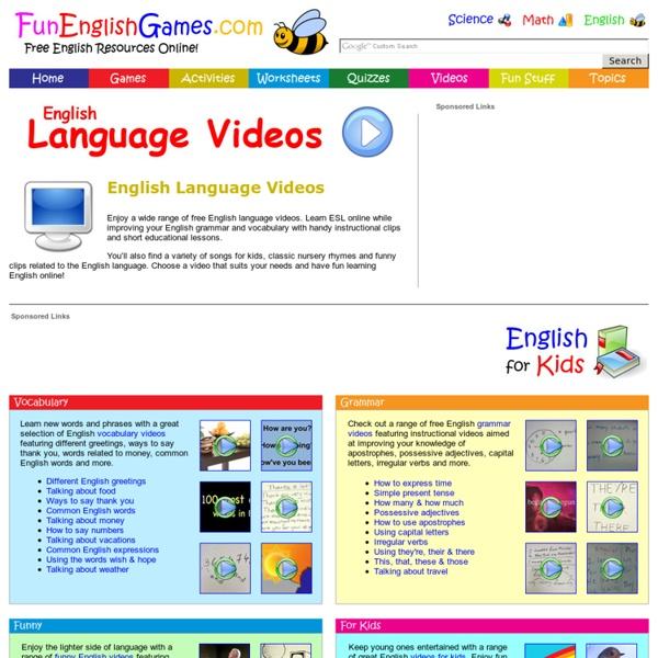 English Language Videos - Learn ESL Online