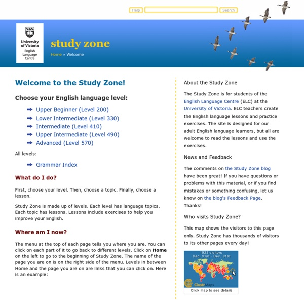 English Language Centre Study Zone: Welcome!