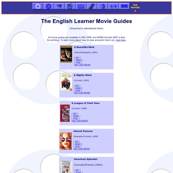 The English Learner Movie Guides