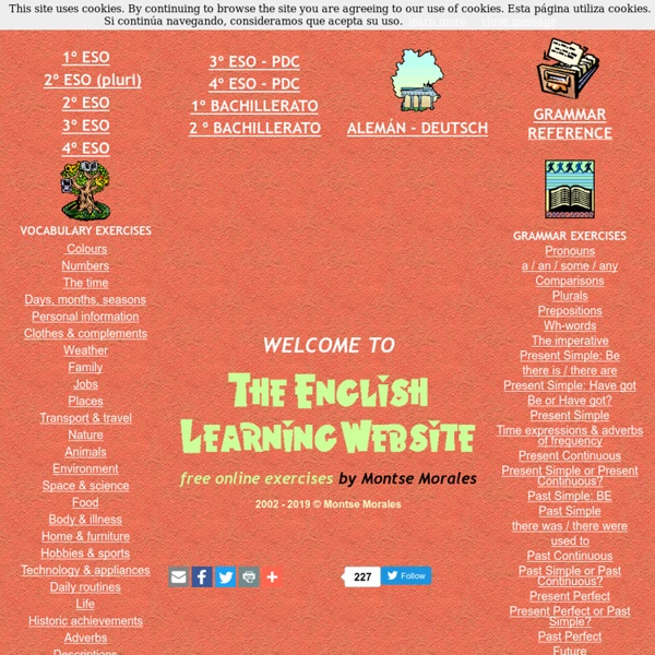 The English Learning Website by Montse Morales Free online exercises