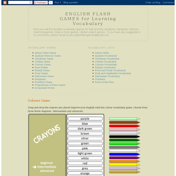 ENGLISH FLASH GAMES for Learning Vocabulary: Colours Game