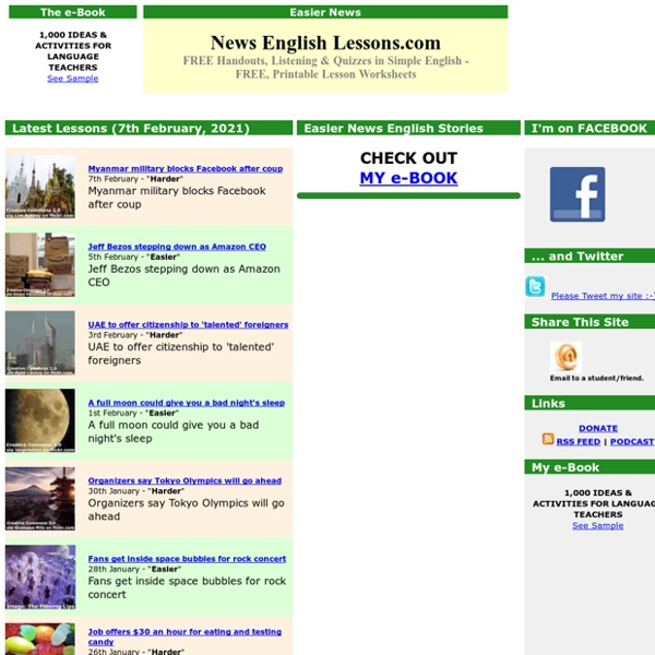 News English Lessons: Free Lesson Plans for Current Events