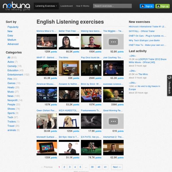 Free English Listening Exercises