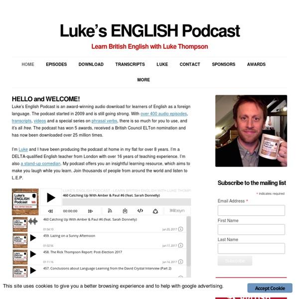 Learn British English with Luke Thompson