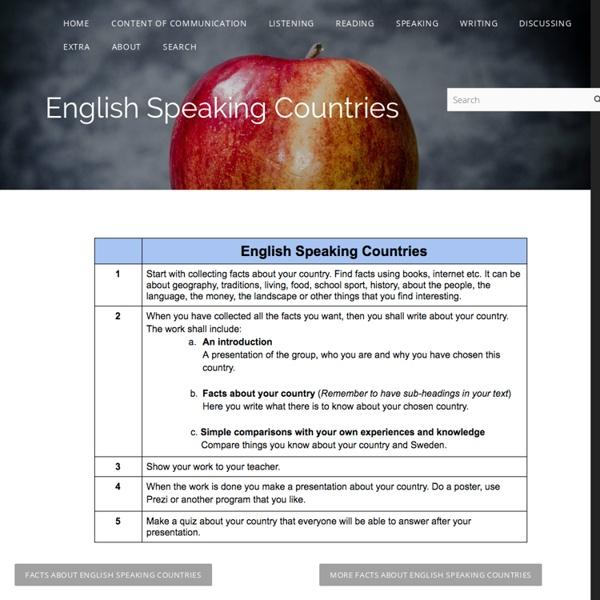 English Speaking Countries - Kimstudies