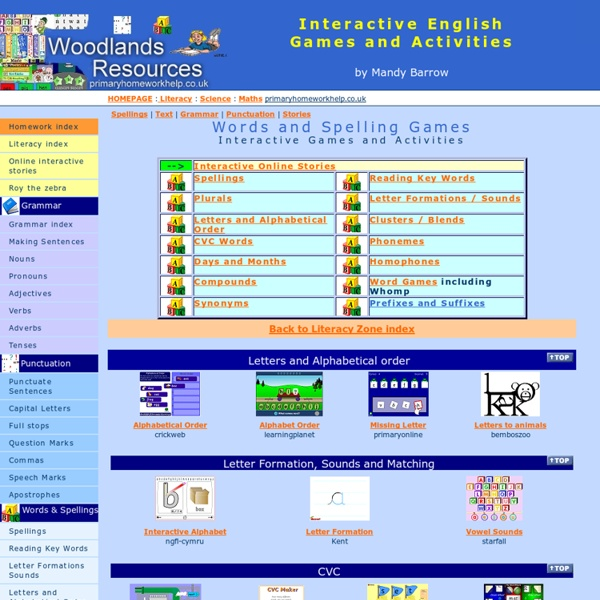 English Spelling Games and Activities
