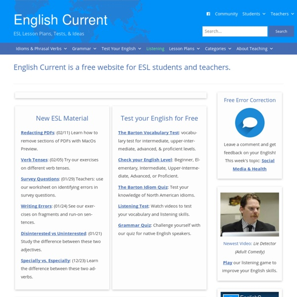 English Current : Free ESL News Lesson Plans & Ideas English Current