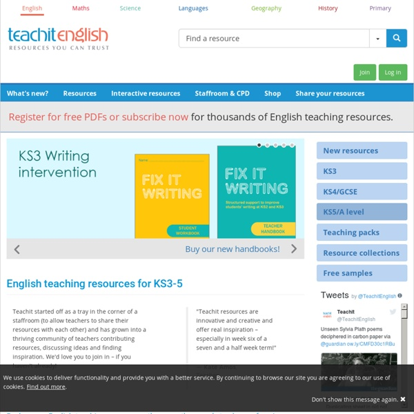 Teachit - English teaching resources