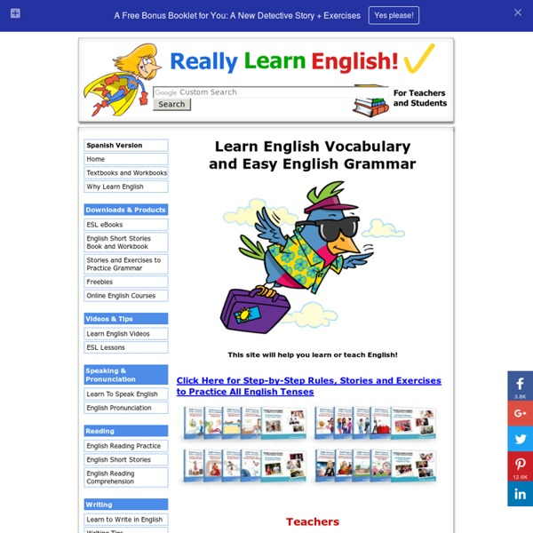 Really Learn English Vocabulary and Easy English Grammar. Read stories, do ex...