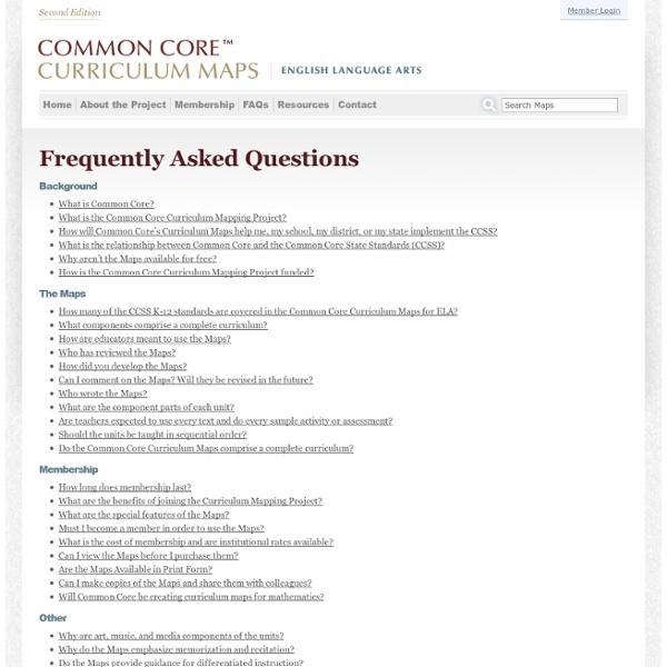 CCSS Curriculum Maps Gates