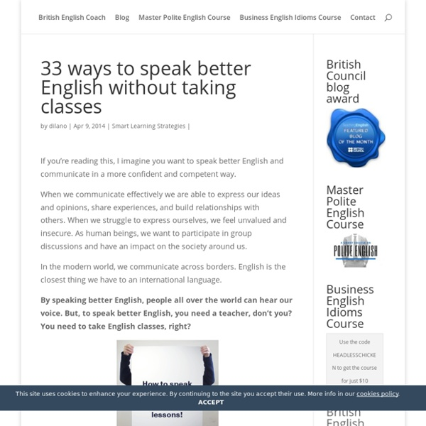 33 ways to speak better English