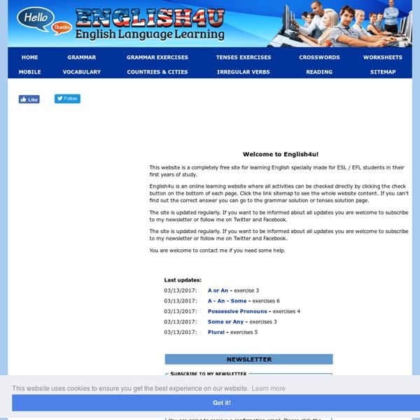English4u - English grammar exercises online