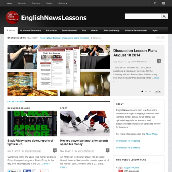 EnglishNewsLessons