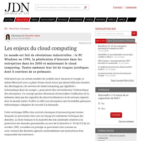 Avis d'expert : Les enjeux du cloud computing par Murielle Cahen – Tribune Solutions