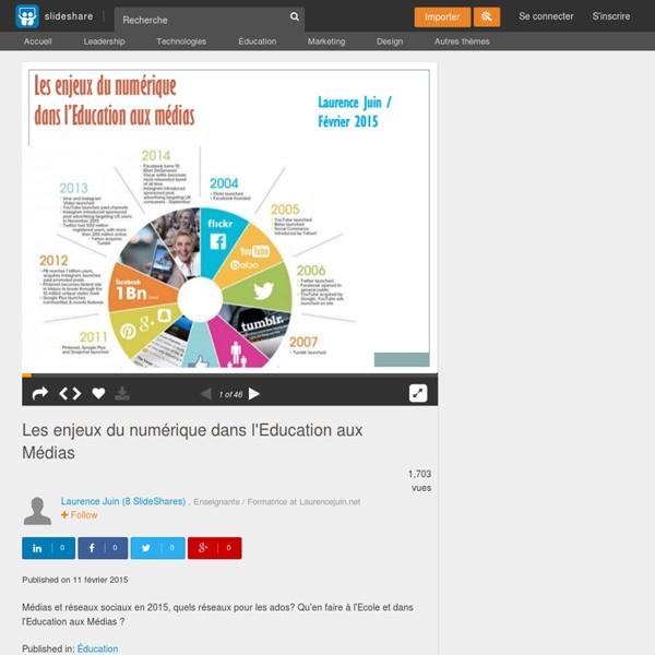 Les enjeux du numérique dans l'Education aux Médias