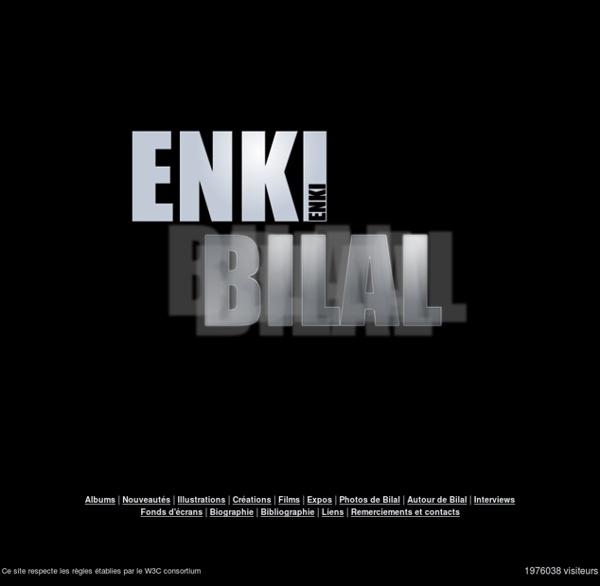 Enki Bilal - Le site