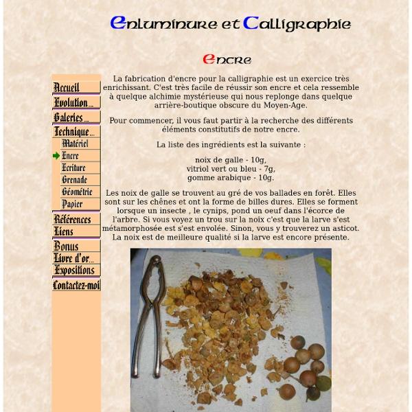 Enluminure et calligraphie - Encre