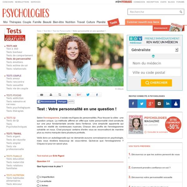 Enneagramme - Test gratuit : Votre personnalité en une question !