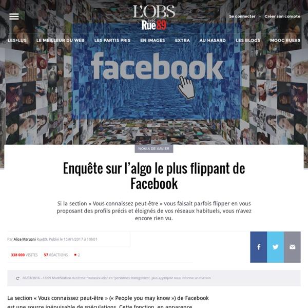 Enquête sur l'algo le plus flippant de Facebook