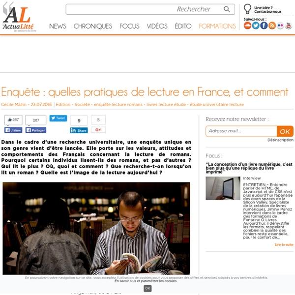 Enquête : Les français face au roman