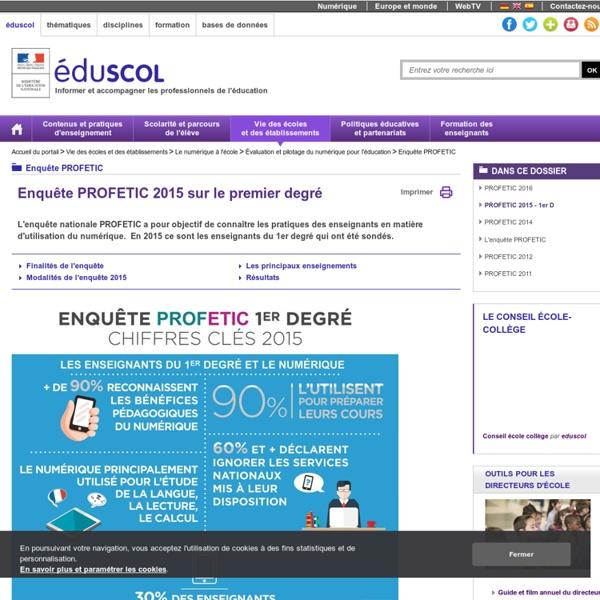 Enquête PROFETIC - PROFETIC 2015 - 1er D