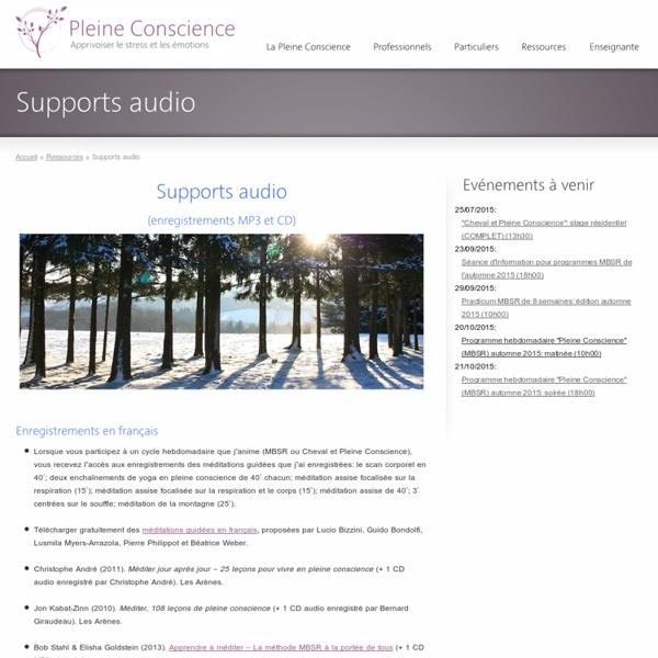 Enregistrements de méditation de pleine conscience