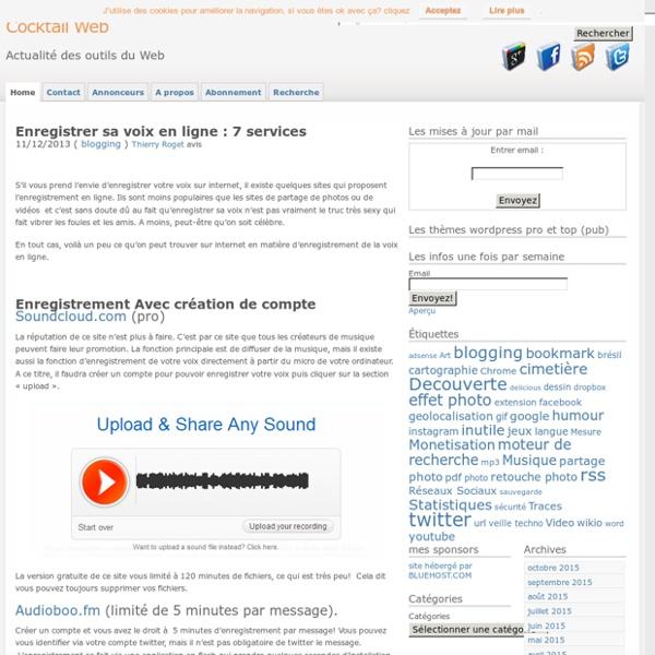 Enregistrer sa voix en ligne 7 services