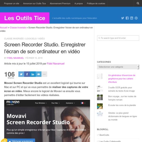 Screen Recorder Studio. Enregistrer l'écran de son ordinateur en vidéo