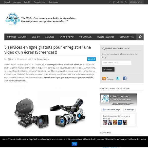 5 services en ligne gratuits pour enregistrer une vidéo d'un écran (Screencast)