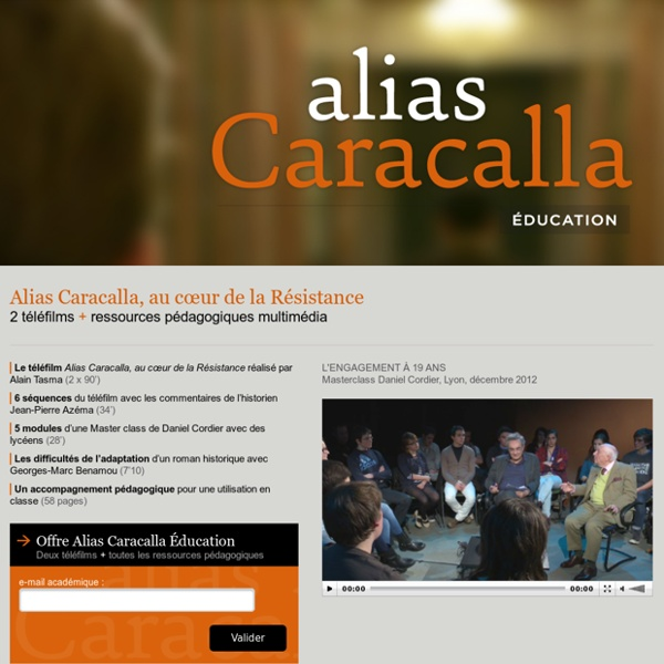 Alias Caracalla - Enseignant : identifiez-vous