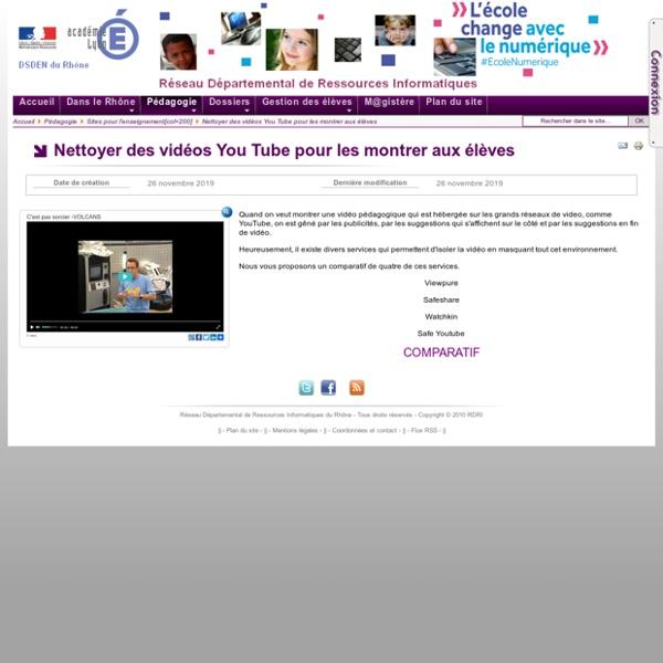 Nettoyer des vidéos YouTube pour les montrer aux élèves
