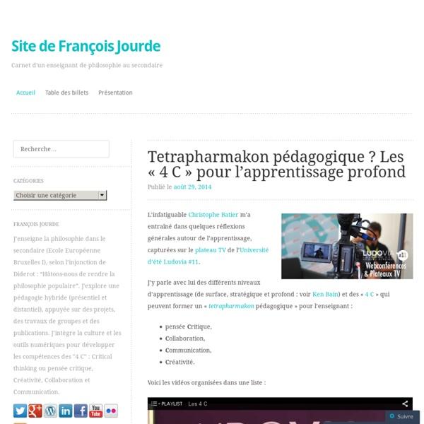 Site compagnon de François Jourde