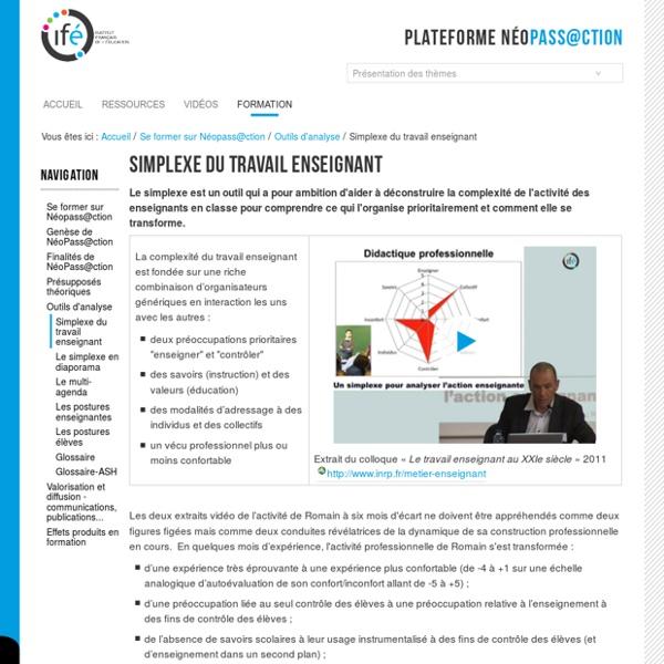 Simplexe du travail enseignant — 3-Ifé - Plateforme néo-titulaires - NéoPass@ction