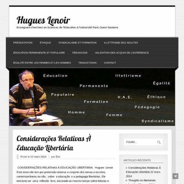 De la pédagogie à l'andragogie - Hugues Lenoir