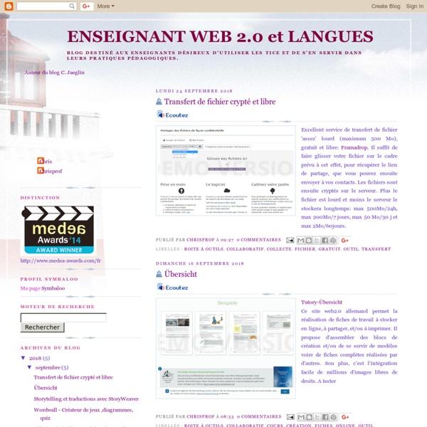 ENSEIGNANT WEB 2.0 et LANGUES