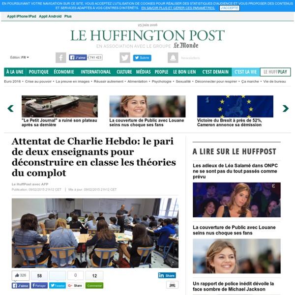 Attentat de Charlie Hebdo: le pari de deux enseignants pour déconstruire en classe les théories du complot