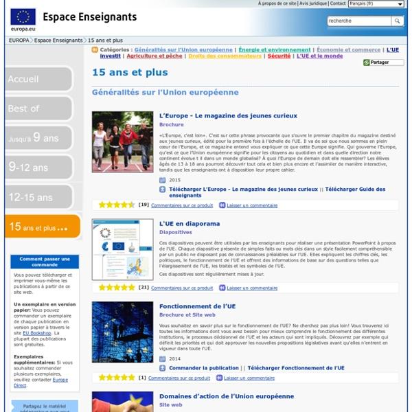Europa.eu - Espace enseignants