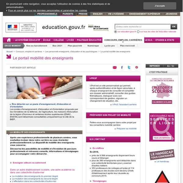 RUB. SITE MEN : Le portail mobilité des enseignants