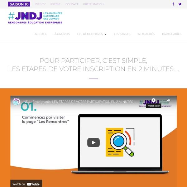 LES ENSEIGNANTS PRINCIPAUX PRESCRIPTEURS DE LA JNDJ - #JNDJ