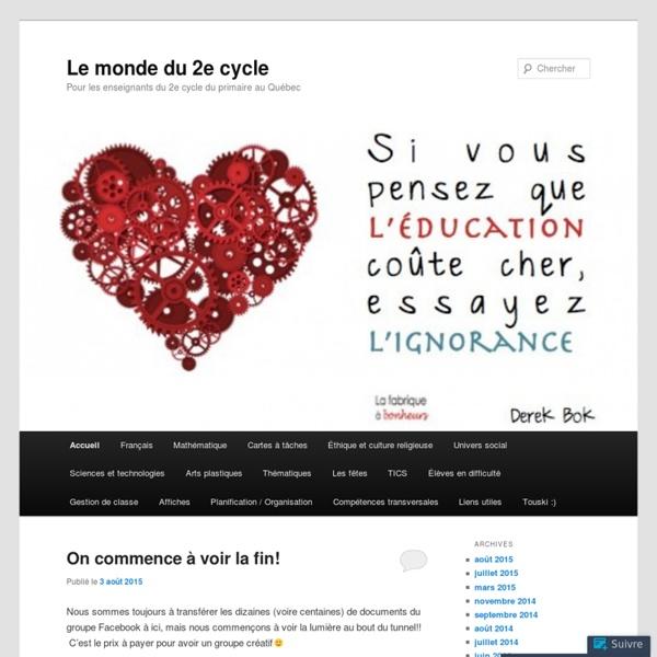 Pour les enseignants du 2e cycle du primaire au Québec
