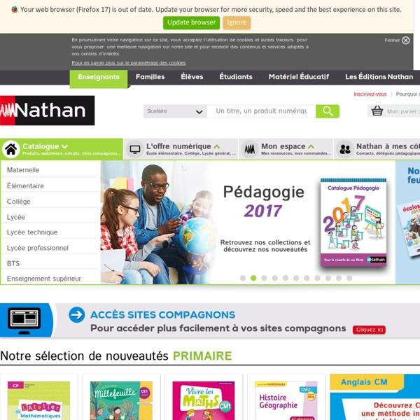 Editions Nathan - Espace Enseignants : manuel scolaire, livre du professeur, ressource pédagogique, fichier élève…