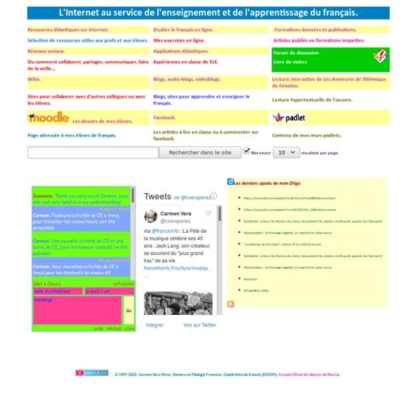 Internet au service de l'enseignement et de l'apprentissage du franÇais, par Carmen Vera Pérez.