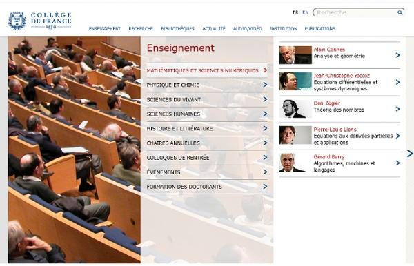 Collège de France : cours à podcaster