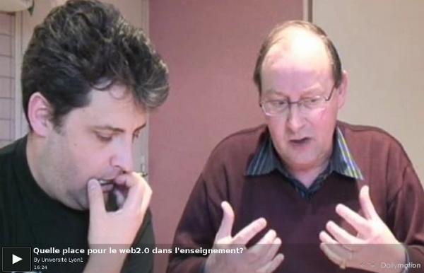 Quelle place pour le web2.0 dans l'enseignement? - une vidéo Campus