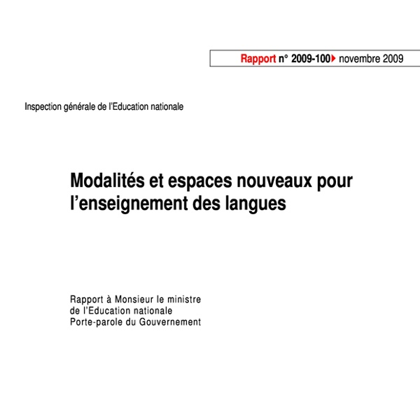 Langues TICE inspection générale