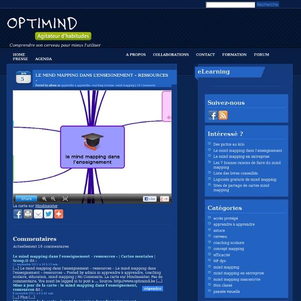 Le mind mapping dans l'enseignement – ressources -